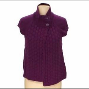 IZOD Purple Sweater Vest XL Shrug